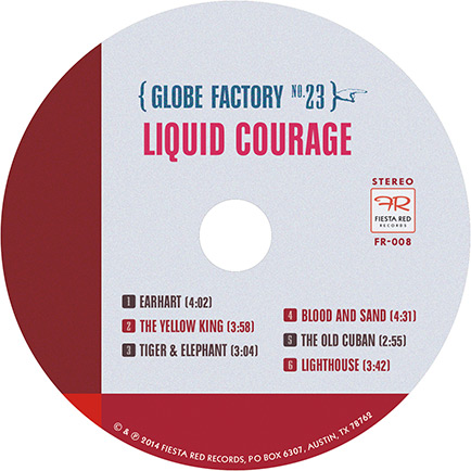 Liquid Courage CD label